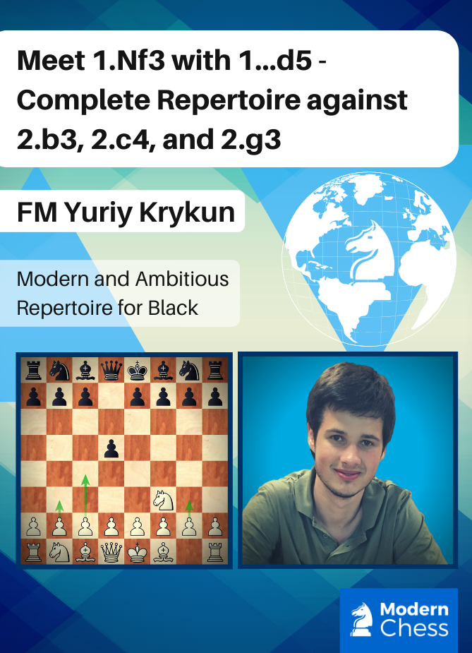 Meet 1.Nf3 with 1...d5 - Complete Repertoire against 2.b3, 2.c4, 2.g3
